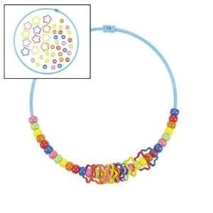 Dozen Fun Band Pony Bead Necklace Craft Kits: Toys & Games