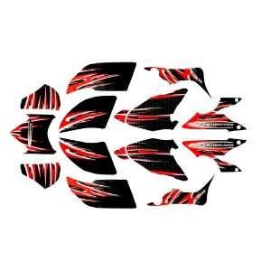 2004   2011 Honda TRX 450R Custom Flame ATV Decal Graphics