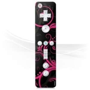 Design Skins for Nintendo Wii Controller   Black Curls