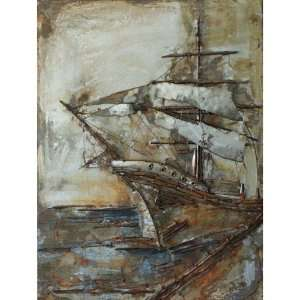 Yosemite Home Decor PAP110315 Castaway Ship 2 Painted Wall