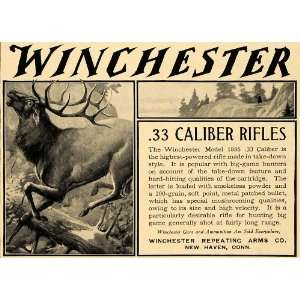 1905 Ad Winchester .33 Caliber Rifles Model 1886 Hunt