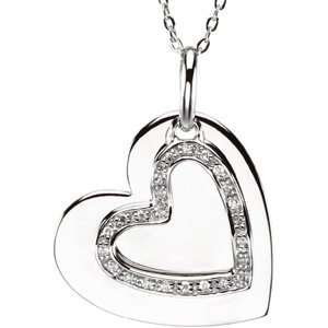 Sterling 25.25X23.25 Mm Mother & Son Heart Pendant W/Box Jewelry