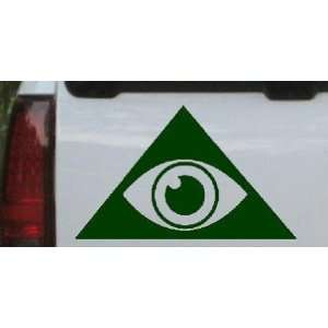 Illuminati Eye Masonic Car Window Wall Laptop Decal Sticker    Dark