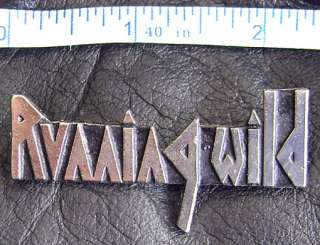 Size of the RUNNING WILD LOGO Metal Pin Badge see the picture