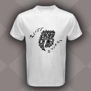 New Ruff Ryders Logo Run DMC Rap Hip Hop White T Shirt Size S,M,L,XL