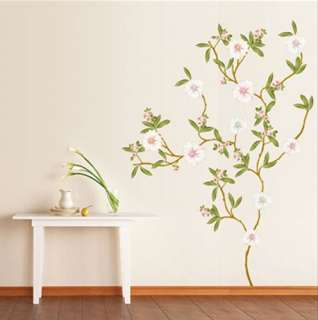 accents self adhesive wall sticker magnolia flower tree kr 0019