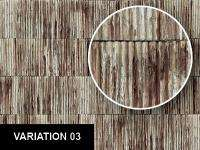 0093 Rusty Corrugated Metal Roof / Wall Texture Sheet