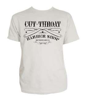 Steady Cut Throat Barber Mens T Shirt Rockabilly Tattoo Punk Greaser