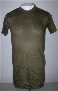 vintage Dead Stock US military issue crew neck t shirt cotton OD Green