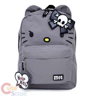 Sanrio Hello Kitty School Backpack w/3D Bow and Ears 16 Large  Angry