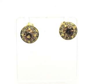 New 14k Yellow Gold TOPAZ Stud Style Earrings