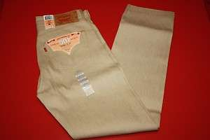 NWT NEW MENS LEVIS 501 0988 SAND RIGID SHRINK TO FIT BUTTON FLY JEANS