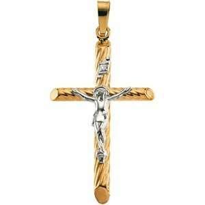 Genuine IceCarats Designer Jewelry Gift 14K Yellow/White Gold Two Tone
