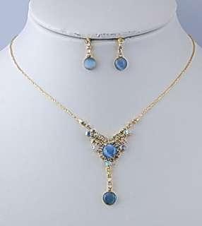 Fashion rhinestone necklace bridal jewelry set 14650