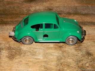 Micro Racer VW Green Volkswagon Beetle Bug No 1046 MIB with Key