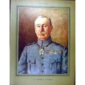 1916 Portrait General Nivelle Ww1 War French Print Home