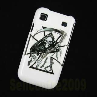 Genuine Black Flip Leather Case Cover For Samsung Galaxy S I9000