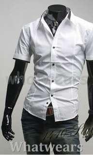 New Mens Slim Fit Jacquard Stylish Shirt Pink Z13