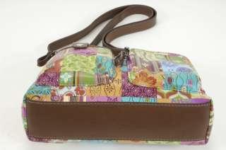 Relic Cross body Shoulder Bag Pinks, Greens, Blues EUC 12899