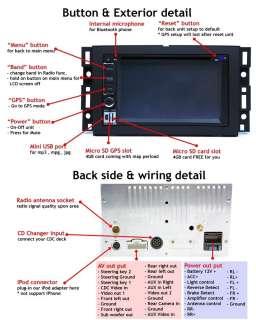 DIN DVD GPS NAV BT iPod CHEVROLET SILVERADO HUMMER H2