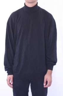 XXL NWT Toscano Black Pullover Turtle Neck Long Sleeve Sweater 10000TA