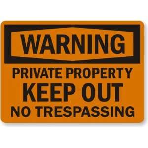 Warning Private Property, Keep Out, No Trespassing