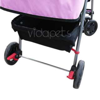 Pink 4 Wheels Pet Dog Cat Stroller HEAVY DUTY