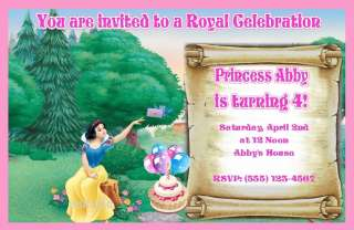 CUSTOM PRINCESS SNOW WHITE INVITATIONS OR THANK YOUS