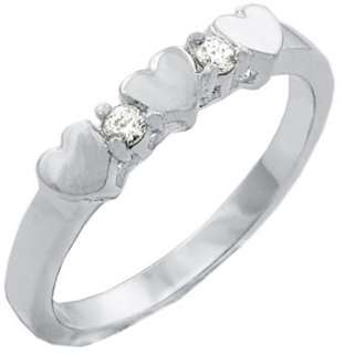 Charming .18 Carat Diamond Heart Ring