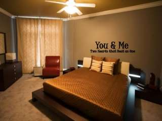 You & Me Hearts Beat as One Home Wall Art Decor Decal