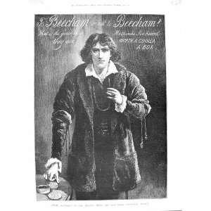 1888 ADVERTISEMENT BEECHAMS PILLS POET ACTOR FINE ART