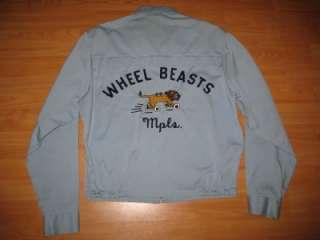 VINTAGE 1950S/1960S WHEEL BEASTS CAR CLUB HOT ROD JACKET  M  NR