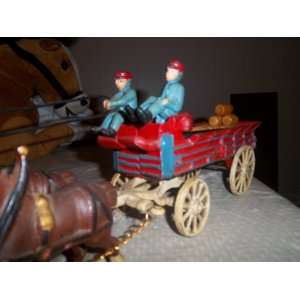 Cast Iron Budweiser 8 Clydesdale Horse Wagon: Everything
