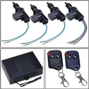 Door Power Lock Conversion Kit w/ 2 Keyless Entry Remote Control