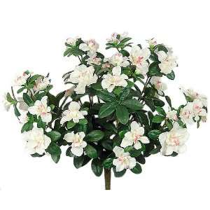 18 Beautiful Silk Azalea Bush Artificial Flower   Cream