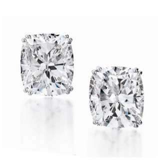 ct gia certified diamond earrings studs set in white or yellow gold