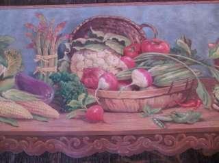 WallPaper Border COLORFUL VEGETABLES, DIE CUT, KITCHEN,DINING ROOM