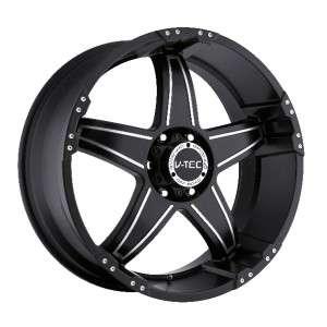 20 inch V tec Wizard black wheels rims 8x6.5 8x165.1 +18 / Dodge Ram