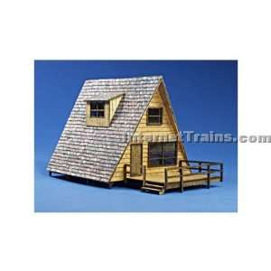 : New Rail Models HO Scale Laser Cut A Frame Cabin Kit: Toys & Games