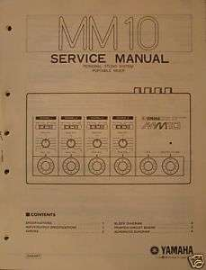 Yamaha Original MM10 Personal Mixer Service Manual.