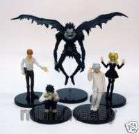 5pcs Death Note Yagami Light Ryuk Near Misa L Figure ##