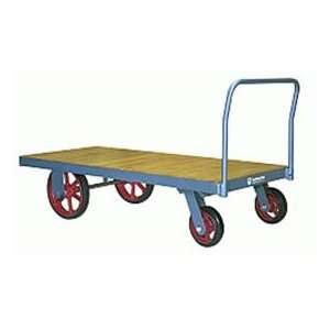 Platform Truck 42x84 Wood Deck Metal Wheels 4000 Lbs