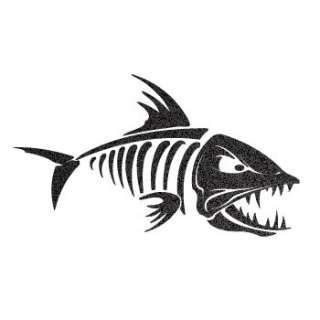 Decal Sticker Fish bones Skull Skeleton Fishing XRX59