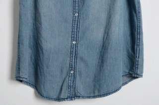 Fashion Womens Blue Denim Top Sleeveless Denim Tank Tops Denim Vest M
