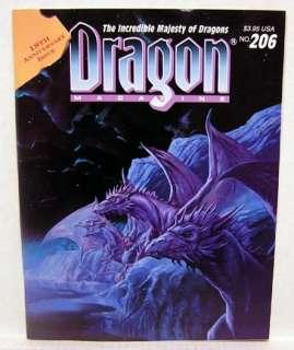 Dragon Magazine #206  RPG Game/Gaming/ D&D/Fantasy/War