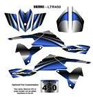 SUZUKI LTR 450 ATV Quad Graphic Decal Kit 2222 Blue