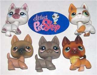 SHEPHERD PUPPY DOG LOT~#127 491 61 1421 357~Littlest Pet Shop X17