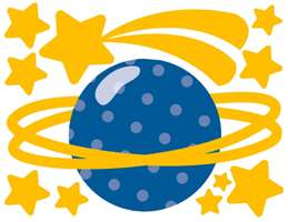 OUTER SPACE SHIP ROCKET PLANET BOY WALL STICKERS DECALS