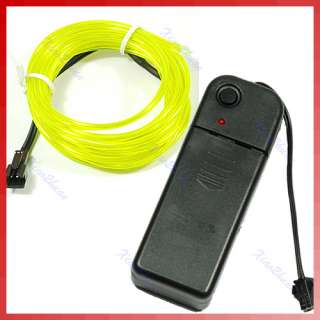 2M Flexible Neon Light Glow EL Wire Rope Car Party 6#
