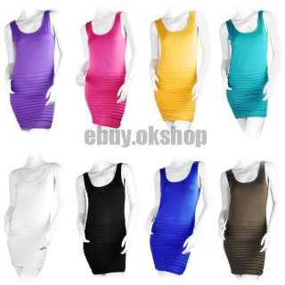Colors Korea Women Sexy Fashion Tight Wrinkle Dress